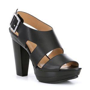 MICHAEL Michael Kors Shoes - Size 9 Michael Kors Black Leather Platform Heels